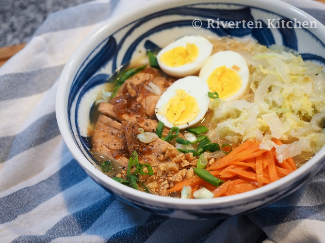 Braised Chicken Egg Noodle Soup