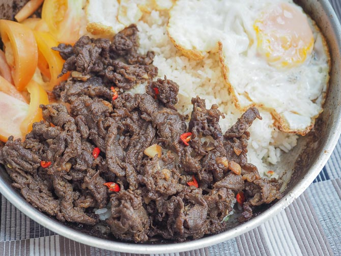 Sweet and Spicy Beef Tapa