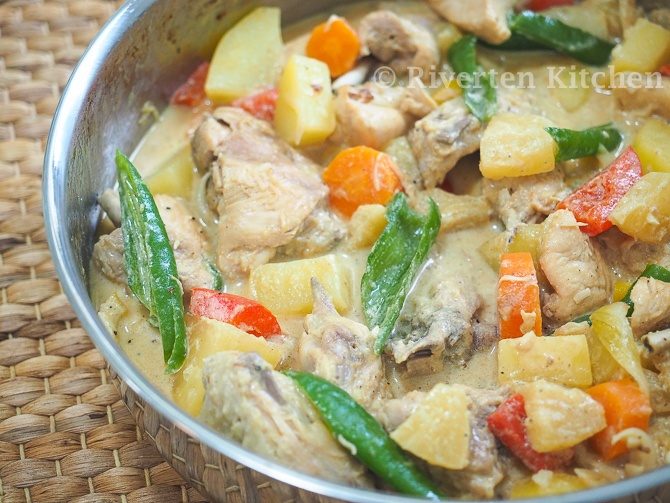 Pineapple Chicken Stew with Evaporated Milk