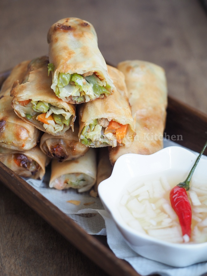 Vegetable Spring Rolls With Pork Filipino Style