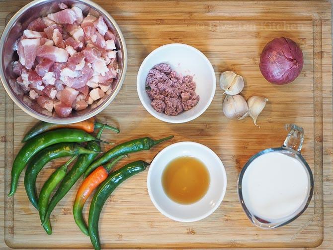 Bicol Express Ingredients