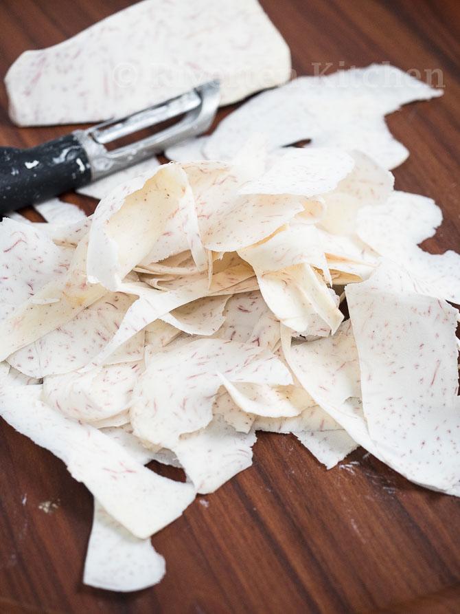 shaved gabi for sinigang