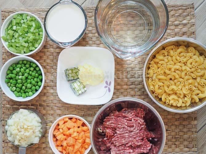 Filipino Sopas Ingredients