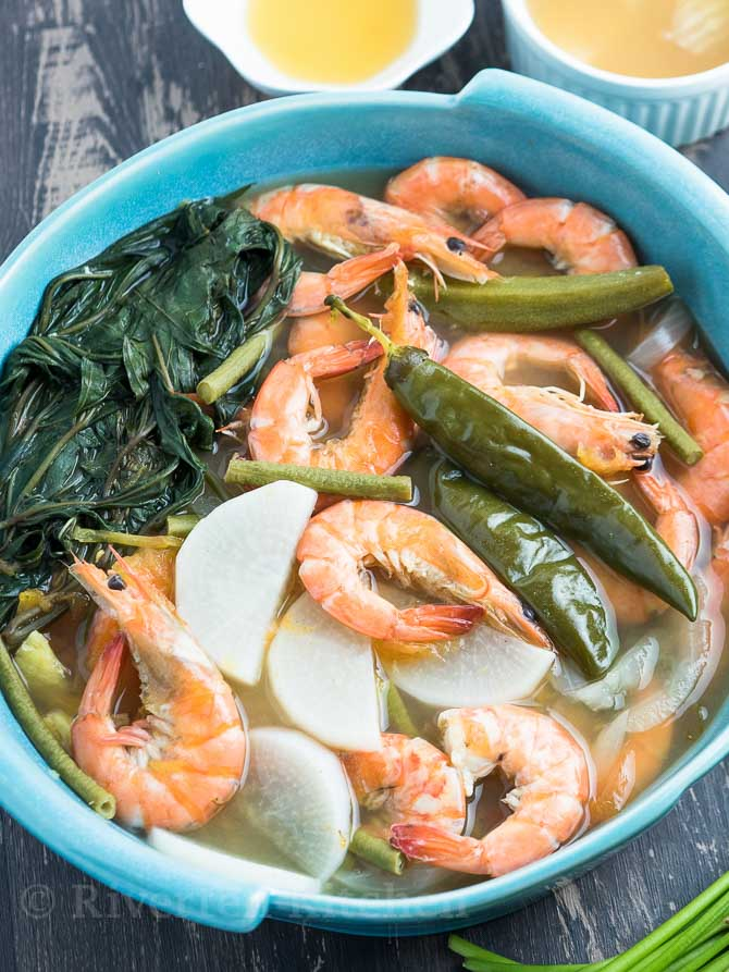 Sinigang Na Hipon Shrimp Sour Soup Riverten Kitchen