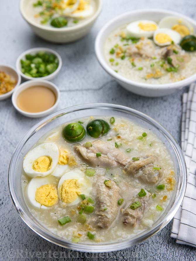 Chicken Arroz Caldo With Toppings
