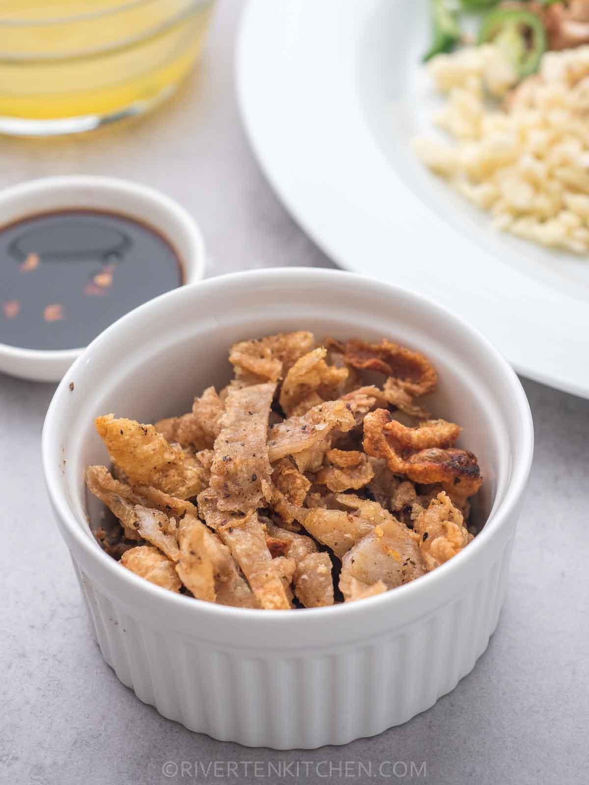 Fried Crispy Chicken Skin