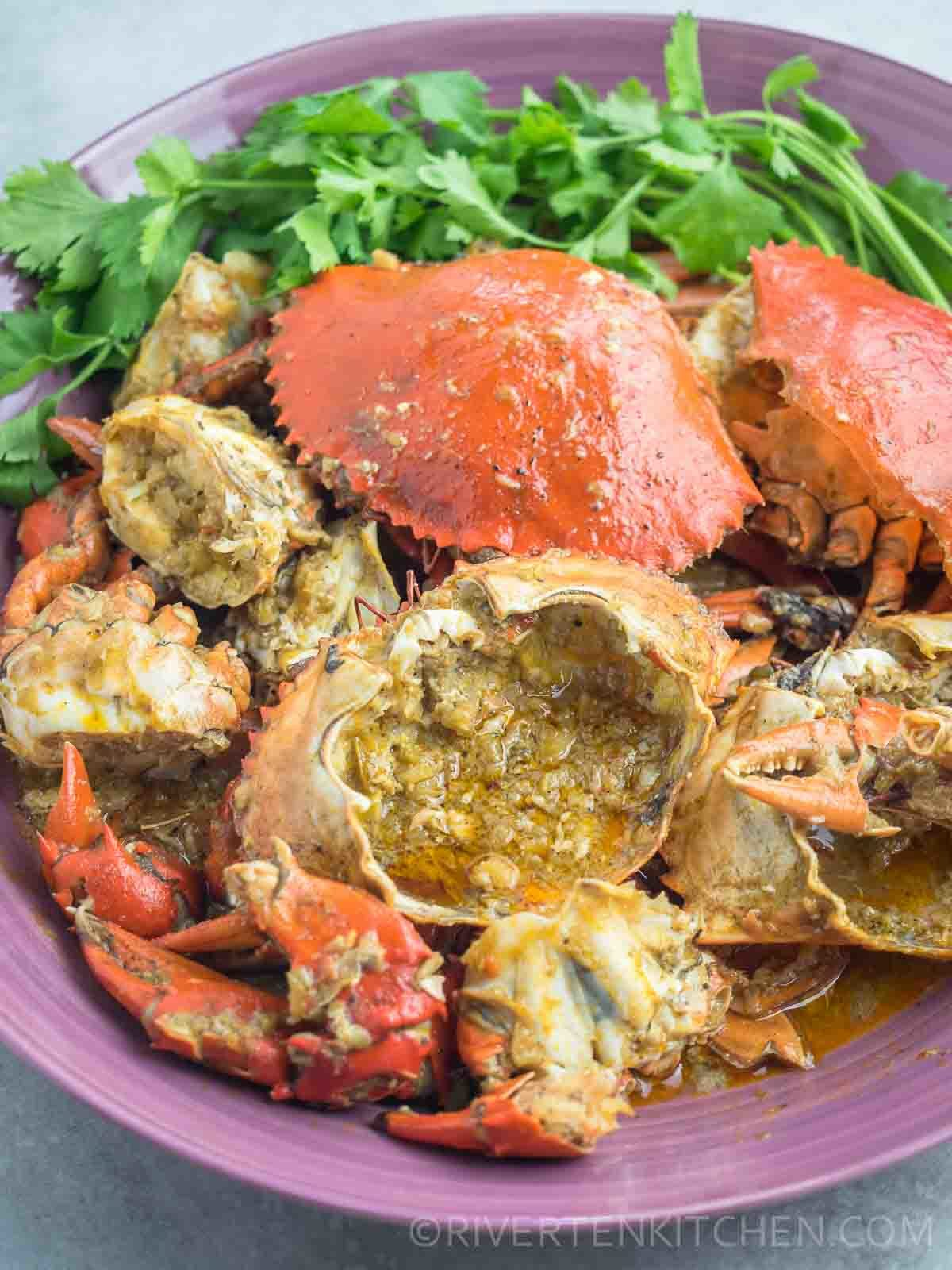 Crab recipe with Garlic Butter Sauce Oyster Sauce