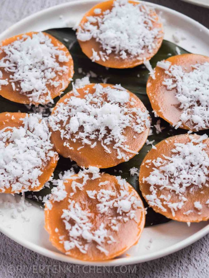 Steamed Kutsinta with grated coconut