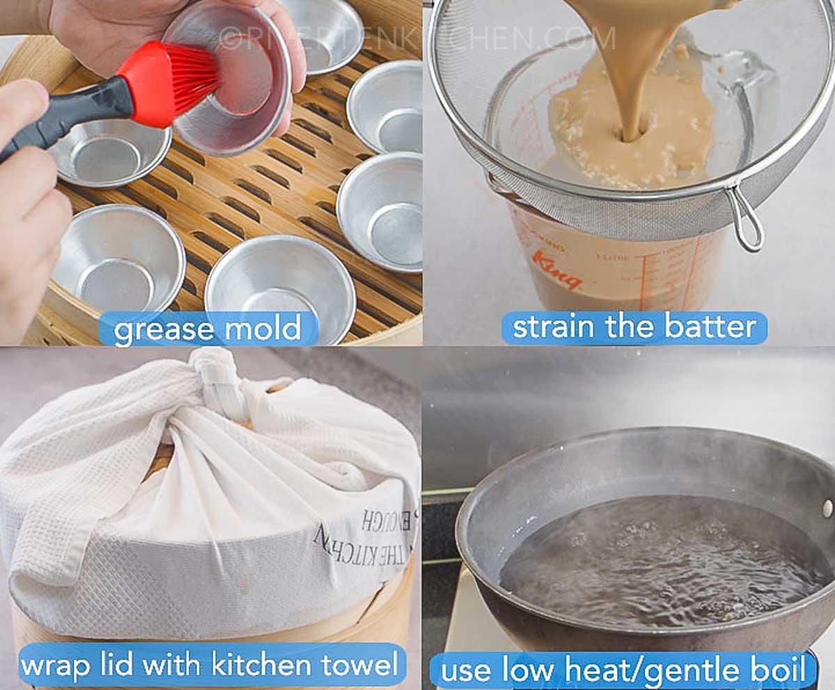 Kutsinta steaming cooking tips
