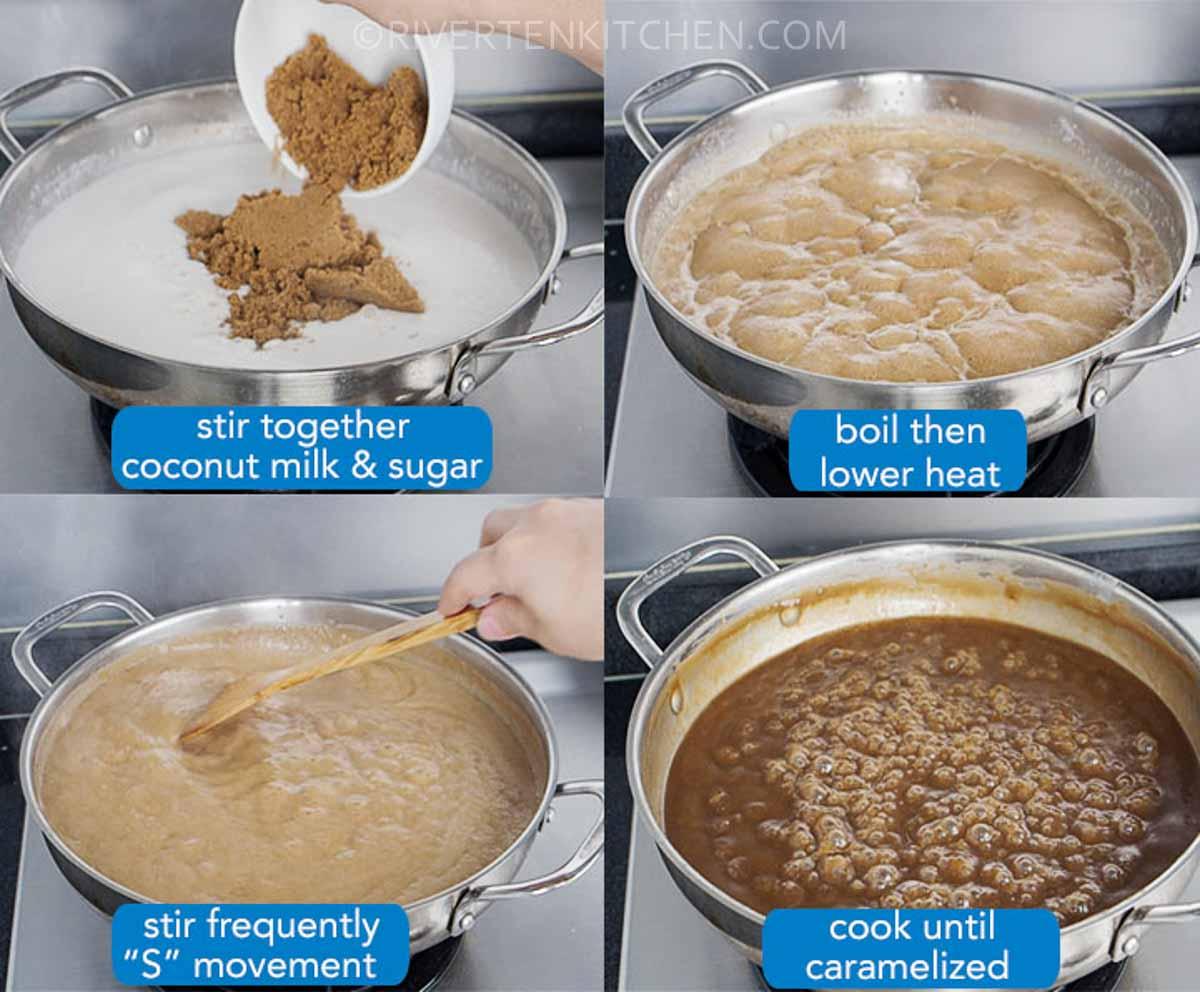 coconut milk and brown sugar caramel
