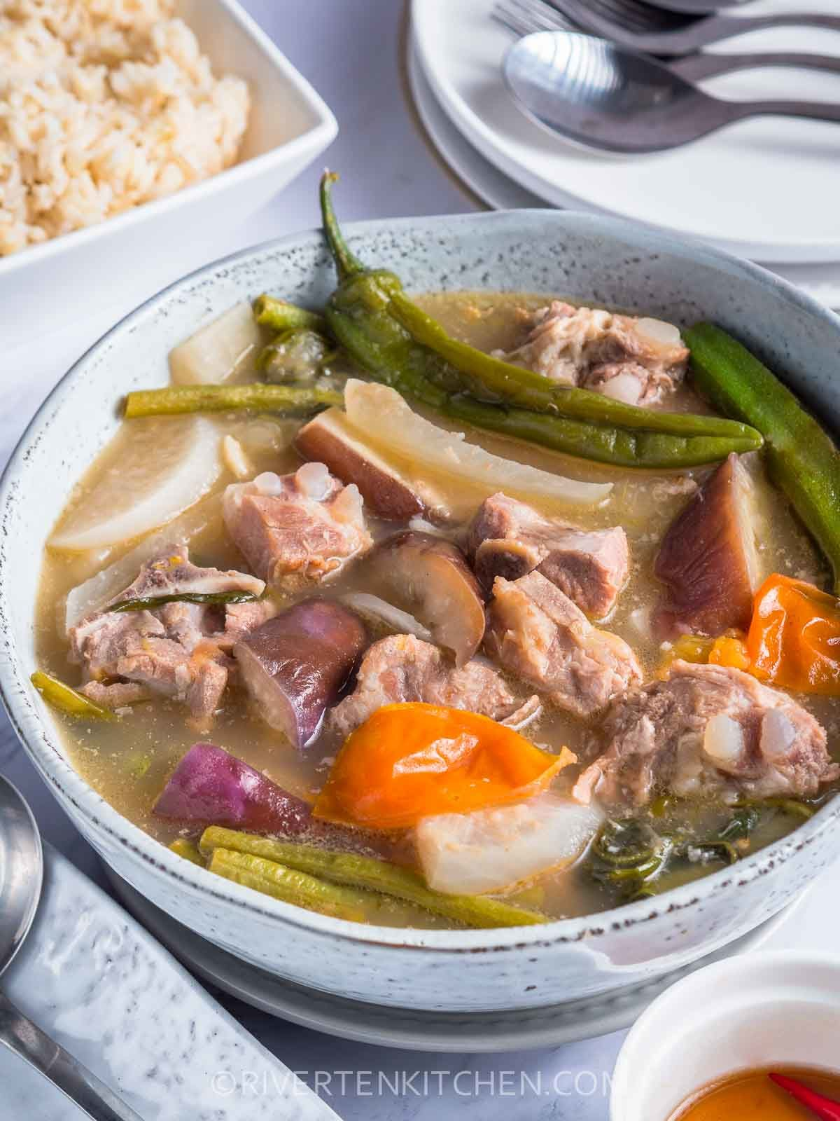 Filipino Pork Tamarind Soup