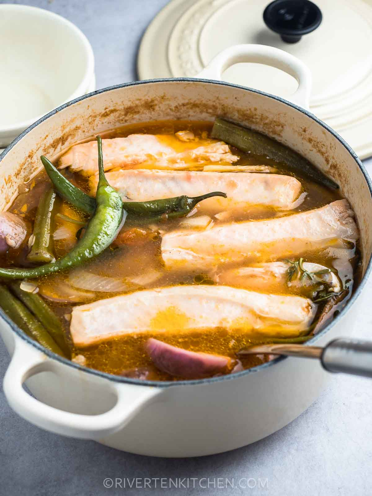 Salmon Sour Soup With Vegetables