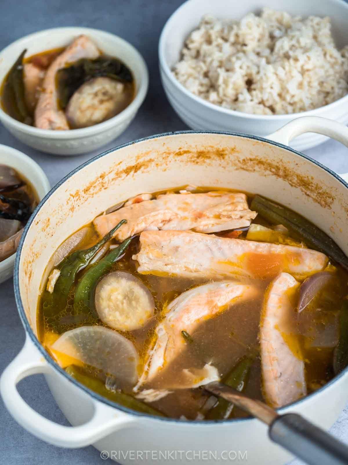 Salmon Sinigang–Filipino Sour Fish Soup