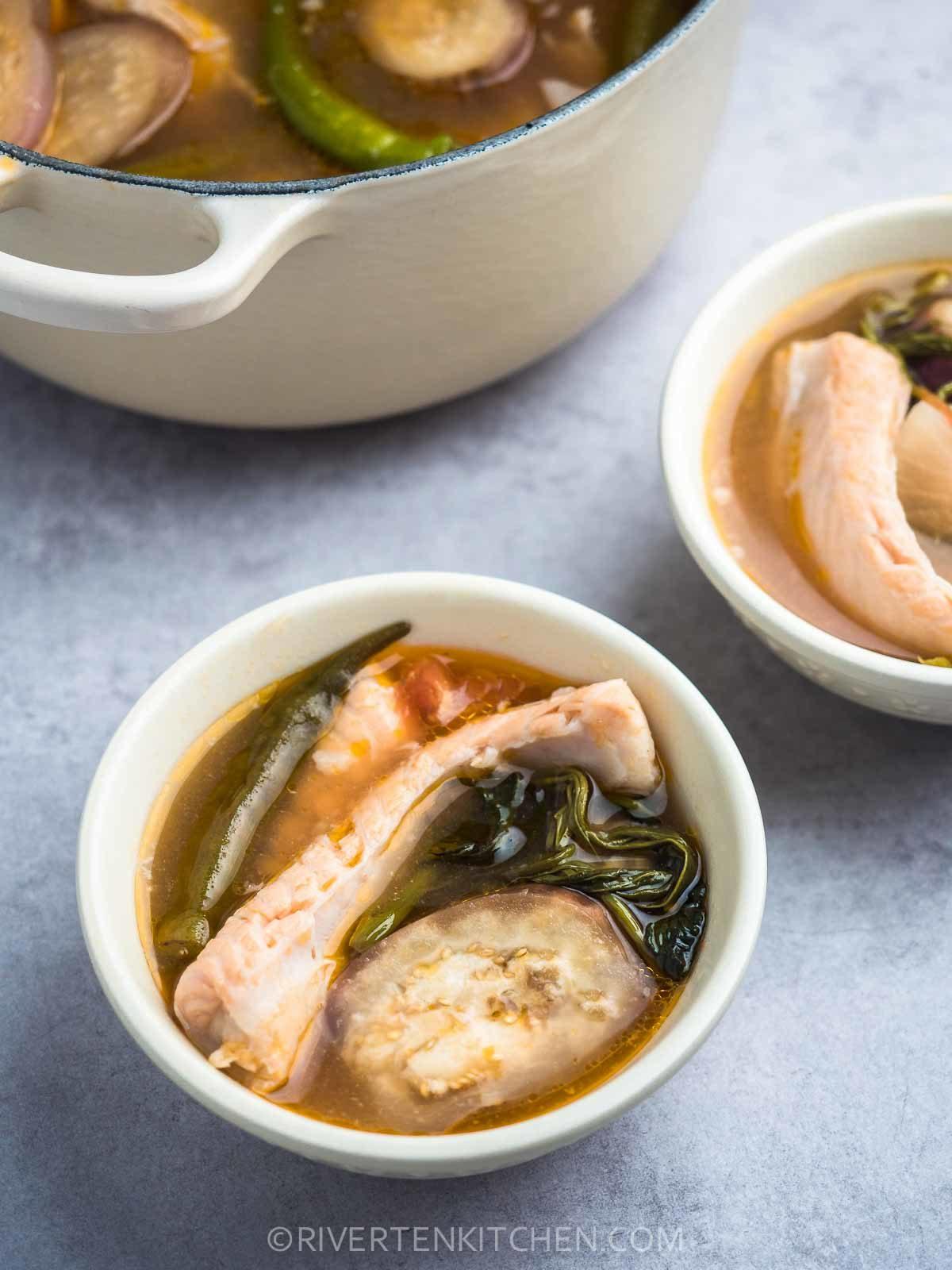 Filipino Salmon Sour Soup